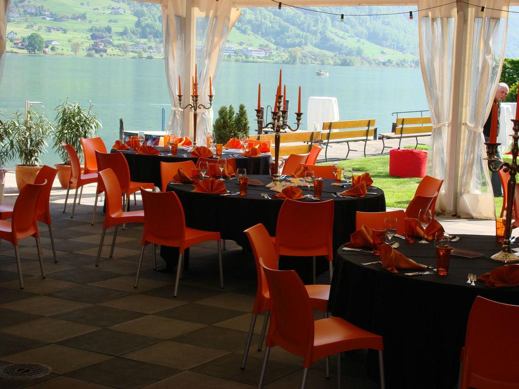 Beispiel: Zelt, Foto: Seehotel Wilerbad.