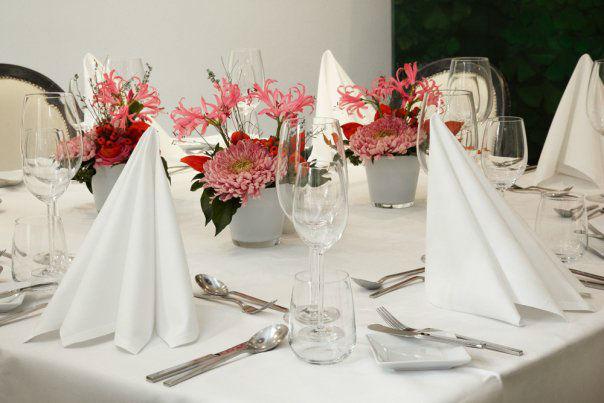 Beispiel: Tischdekoration, Foto: Gerbermühle.