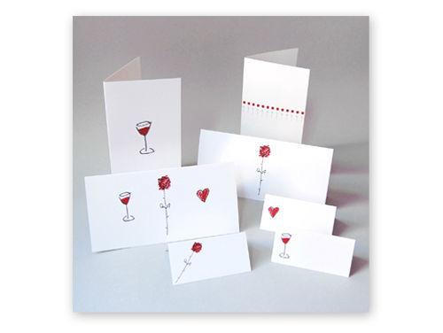 Kartenset mit Einladungen, Menükarten, Tischkarten von Grit M. Wolff