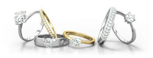 Voorbeeld trouwringen, Foto: 21 Diamonds.