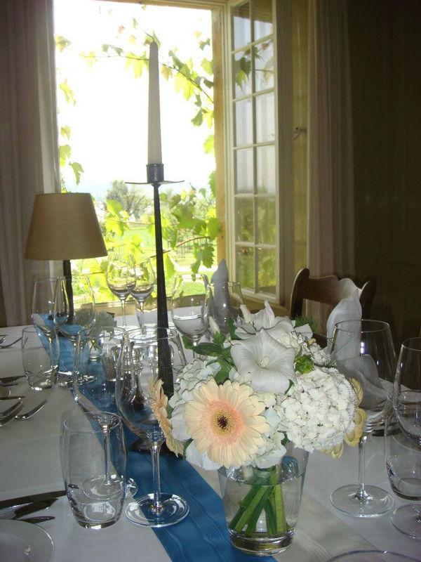 Beispiel: Tischdekoration, Foto: St. Petersinsel Restaurant & Klosterhotel.