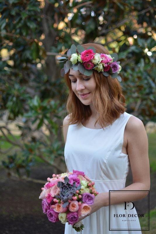 Ramo de novia y coronita