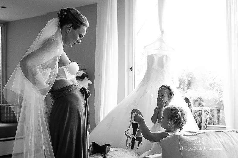 Sposa vestizione
