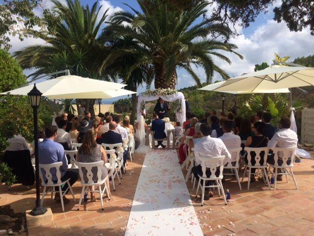 Ceremonia con atmósfera romántica