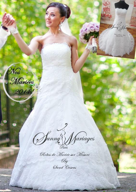Robe de mariée sirène en dentelle http://sunnymariages.com