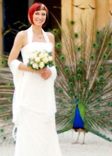 Beispiel: Portrait der Braut, Foto: Christa Strobl Fotografie.