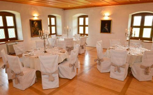 Beispiel: Bankettsaal, Foto: Wasserschloss Wyher.