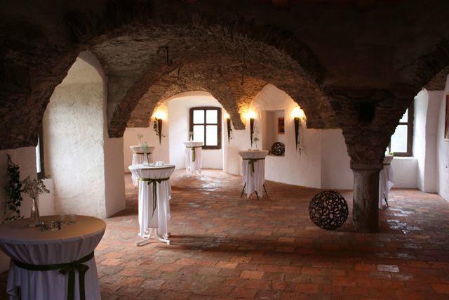 Beispiel: Stehempfang, Foto: Alte Burg Gmünd.