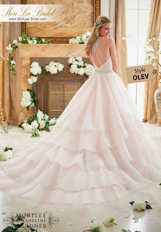 Dress Style OLEV  CRYSTAL BEADED STRAPS ON A BILLOWY TULLE BALL GOWN  Available in Three Lengths: 55 , 58 , 61 . Colors Available: White, Ivory, Ivory/Blush