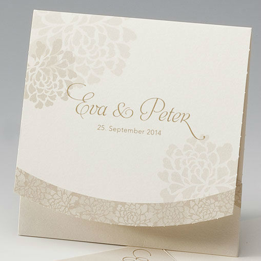 Beispiel: Hochzeitseinladung - Blumentasche, Foto: Whitestore.at.