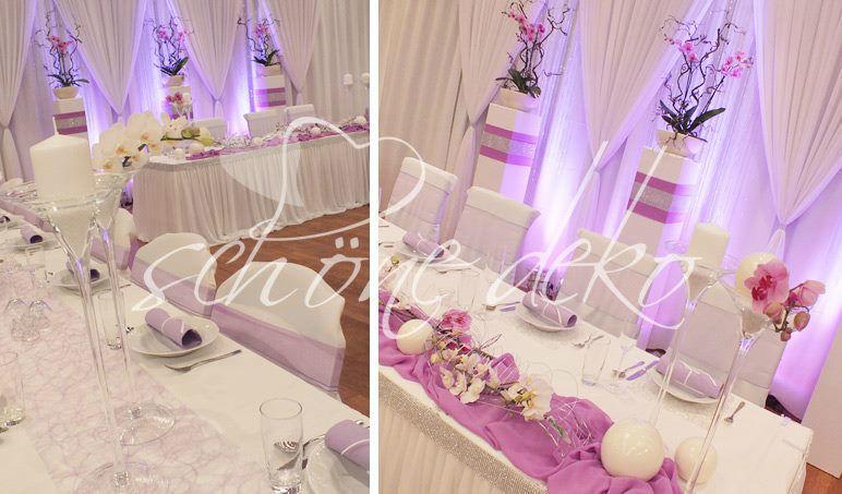 Beispiel: Tischläufer und Skirtings, Foto: Schöne Deko.