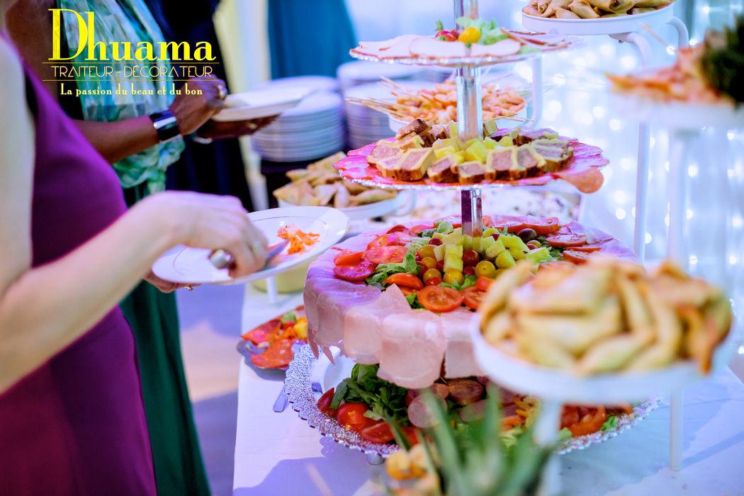 Buffet d'entrées: Dhuama traiteur africain