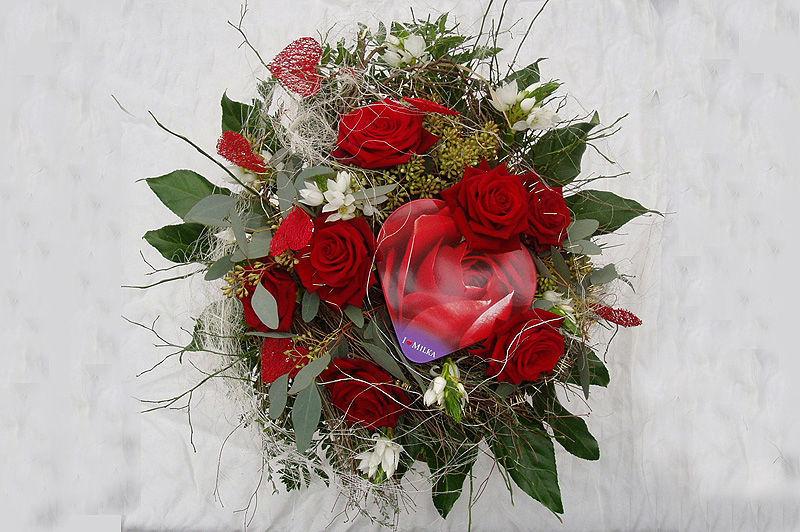 Beispiel: Brautstrauß, Foto: Blumenhaus Dick.