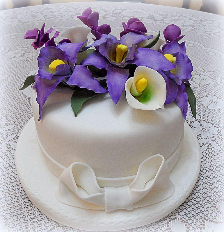 Cake topper Orquideas y Cartuchos