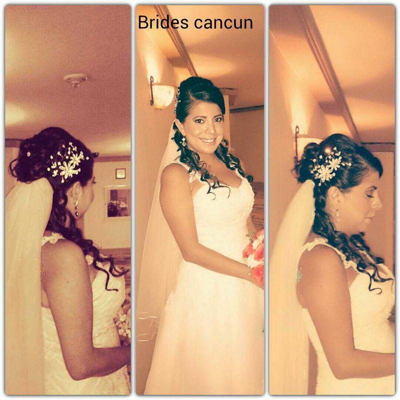 Novias peinado y maquillaje para una boda en playa.