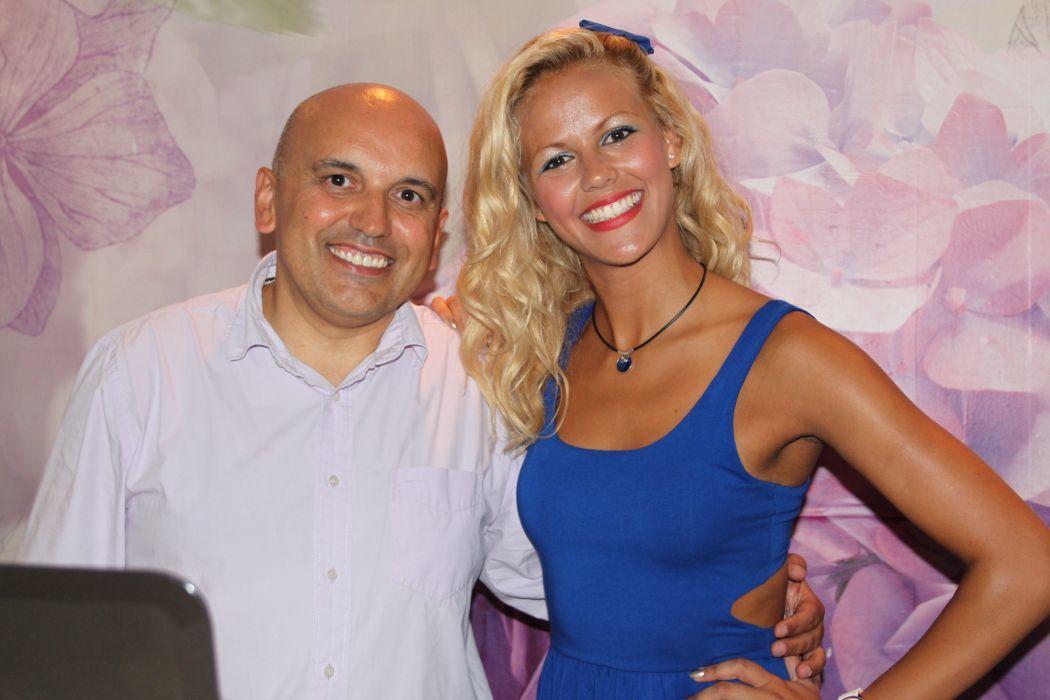 Paulo Pereira e Prof. dança Yennifer Campos (SIC). PPanimações - Animação de Eventos