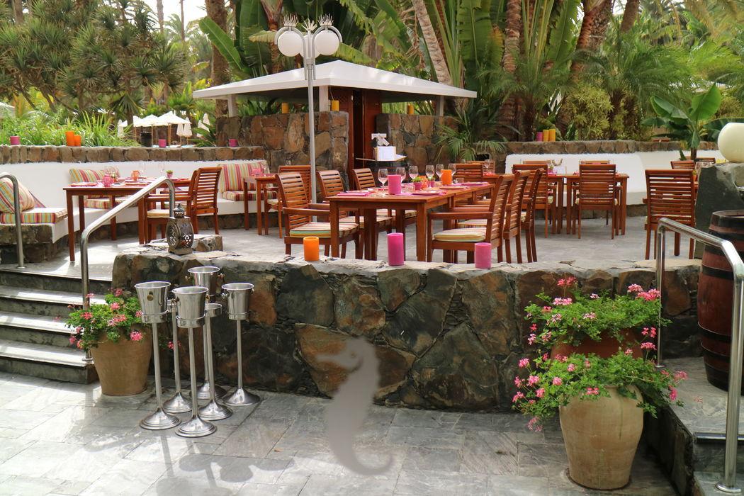 Seaside Palm Beach terraza al aire libre