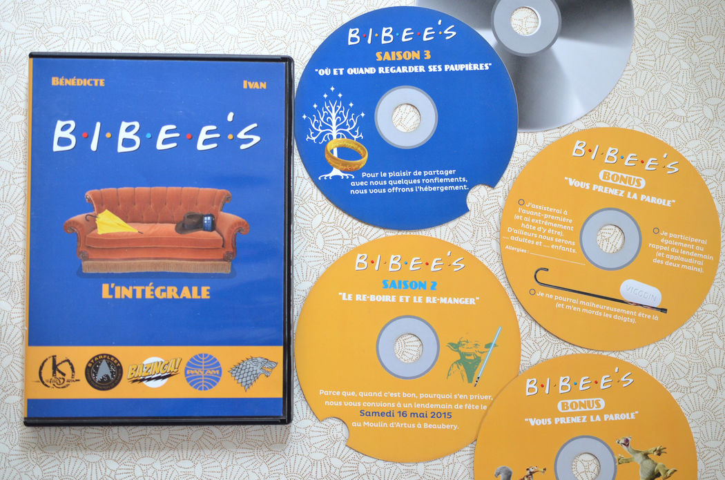 Faire-part Mariage DVD  L'Atelier d'Elsa Le Véritable Sur Mesure