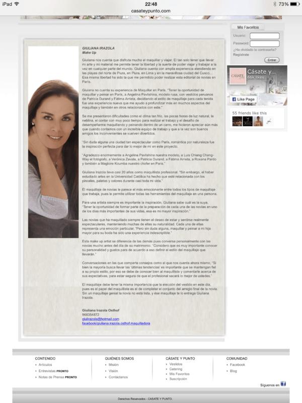 Publicacion en Portal de Casate y Punto