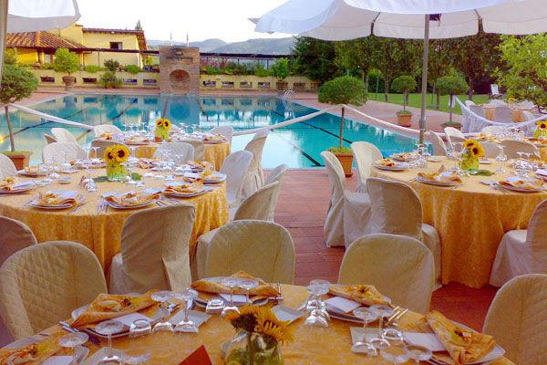Matrimonio a bordo piscina - La Buona Tavola Catering&Banqueting Firenze