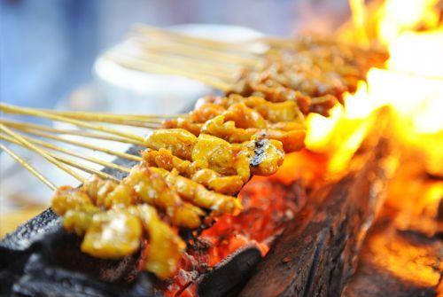 Streetfood Satay in Malaysia