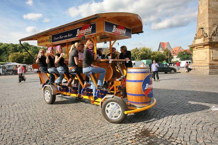 Beispiel: Unterwegs mit dem BierBike, Foto: BierBike Erfurt.
