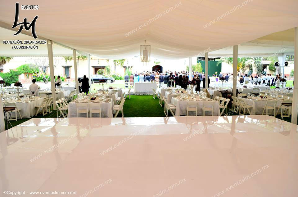 Mario Delgadillo, Professional Wedding Planner, plafón plisado para centro de pista