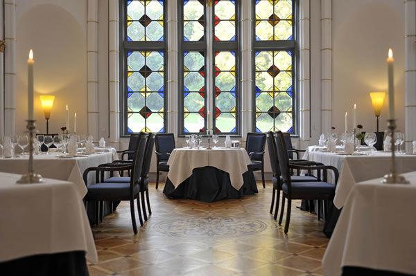 Beispiel: Tischnanordnung, Foto: Schlosshotel Burg Schlitz.