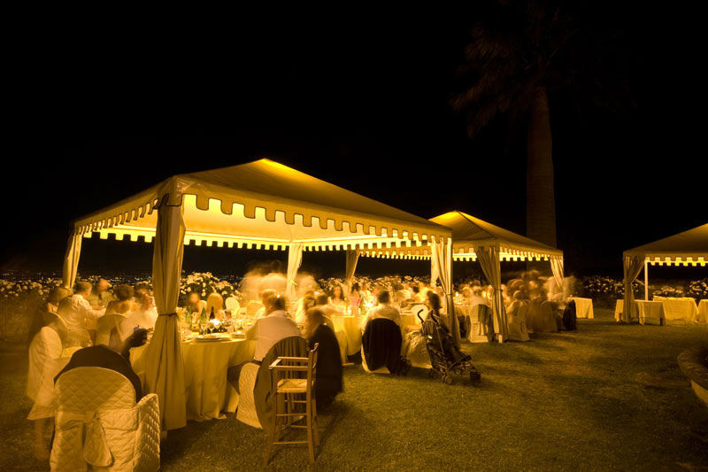Park Hotel Villa Grazioli: Cena di sera nel giardino pensile