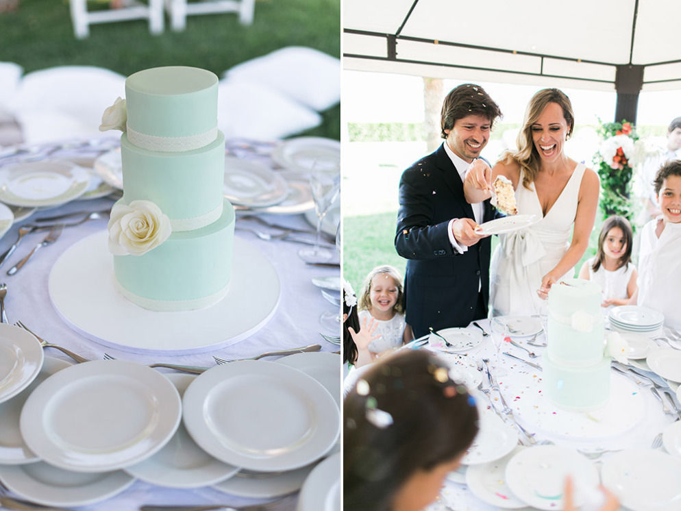 Real Wedding in Portugal: Cutting Cake Moment