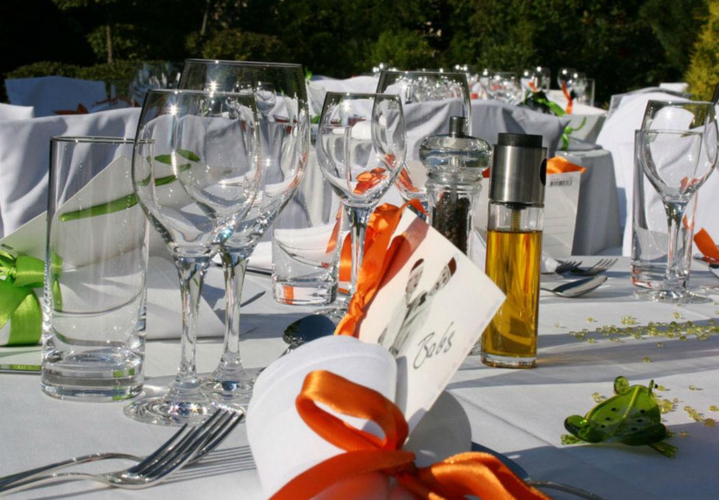 Beispiel: Tischdekoration, Foto: GLAD Catering&more.