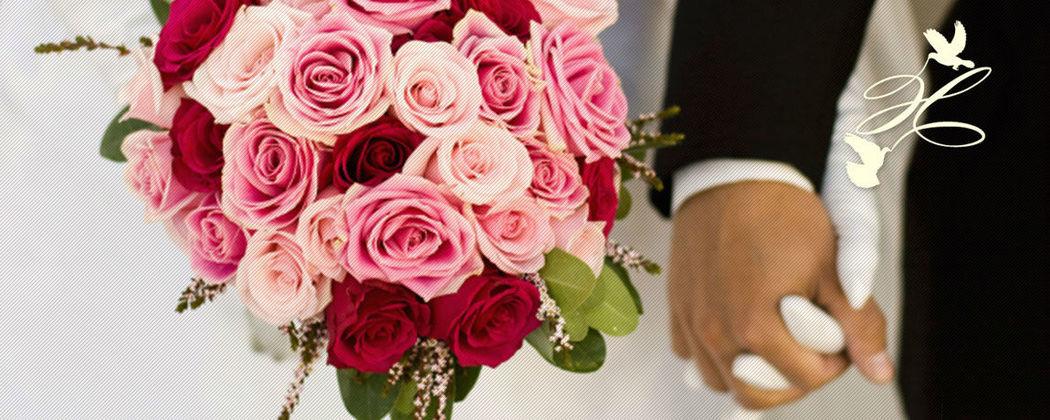 Beispiel: Hochzeitsfloristik, Foto: Hochzeitstraum.