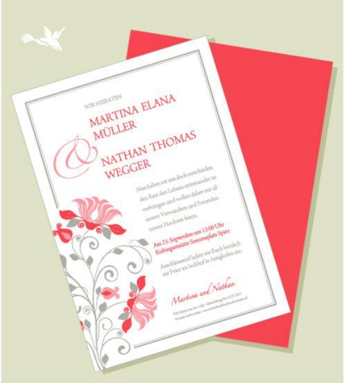 Beispiel: Hochzeitskarte, Foto: paola design.