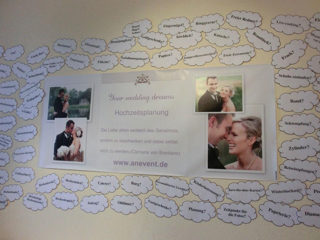 Beispiel: Organisation Ihrer Hochzeit, Foto: AnEvent - Your wedding dreams.
