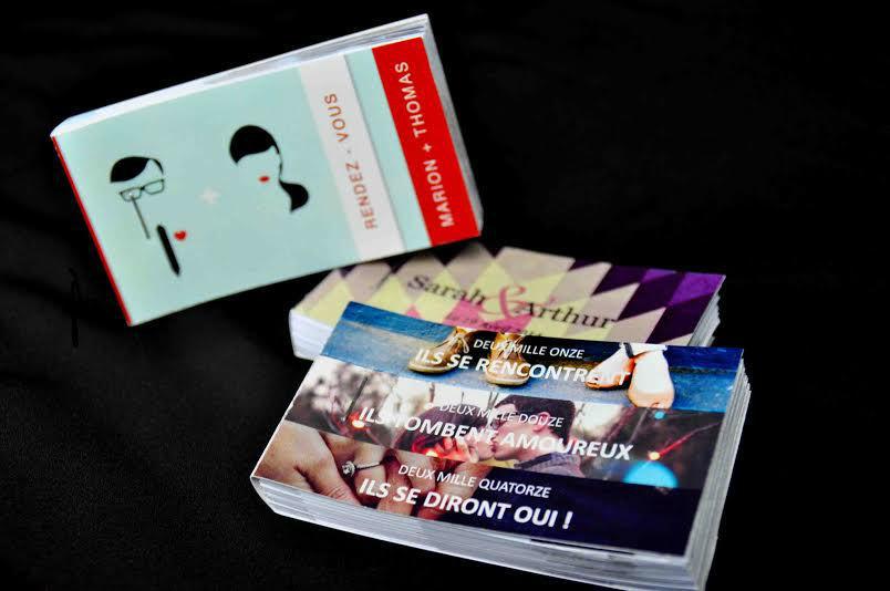 Avec le flipbook, une alternative originale pour annoncer votre mariage, remercier vos invités de leur présence.
