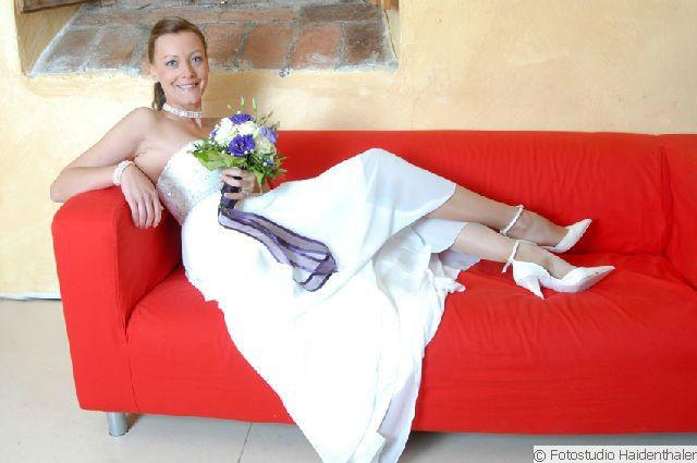 Beispiel: Portrait der Braut, Foto: Fotostudio Haidenthaler.