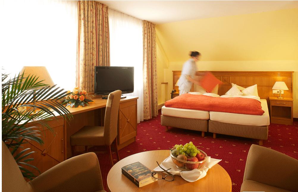 Beispiel: Zimmer, Foto: Hotel Landhaus Seela.