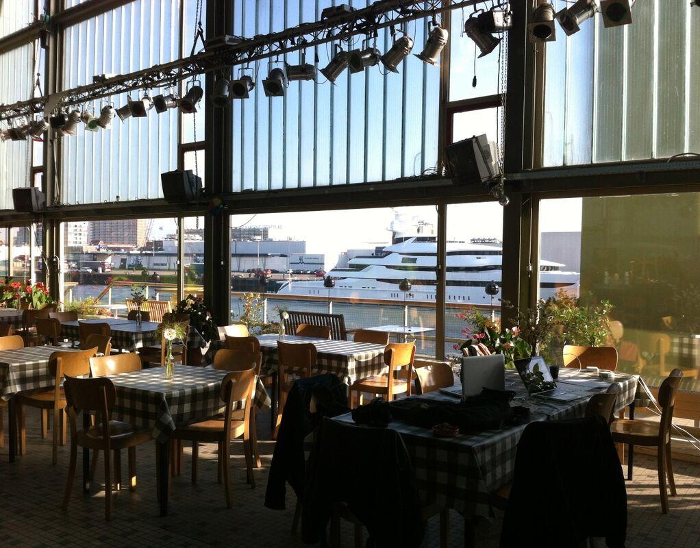 Het uitzicht aan de haven
