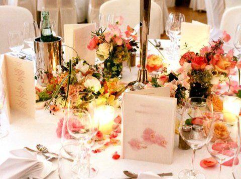 Beispiel: Tischdekoration Hochzeit, Foto: Cap Polonio.