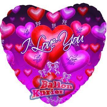 Beispiel: Ballon I Love You, Foto: Ballonkurier.