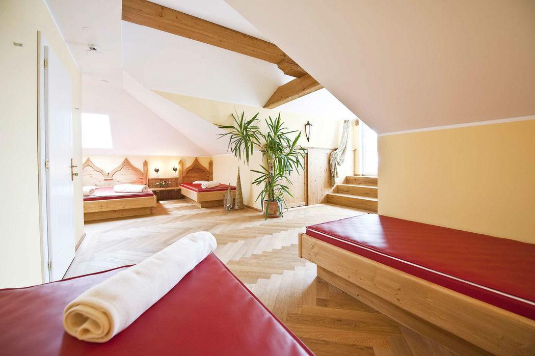 Beispiel: Wasserbetten-Wellness, Foto: Hotel Eichingerbauer.