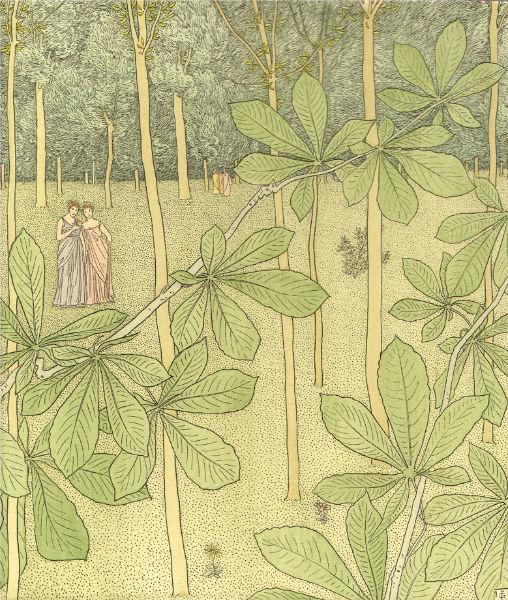 HOMERE, Nausikaa.Traduction de LECONTE DE LISLE. Compositions décoratives par Gaston de LATENAY. Paris, Piazza, 1899.