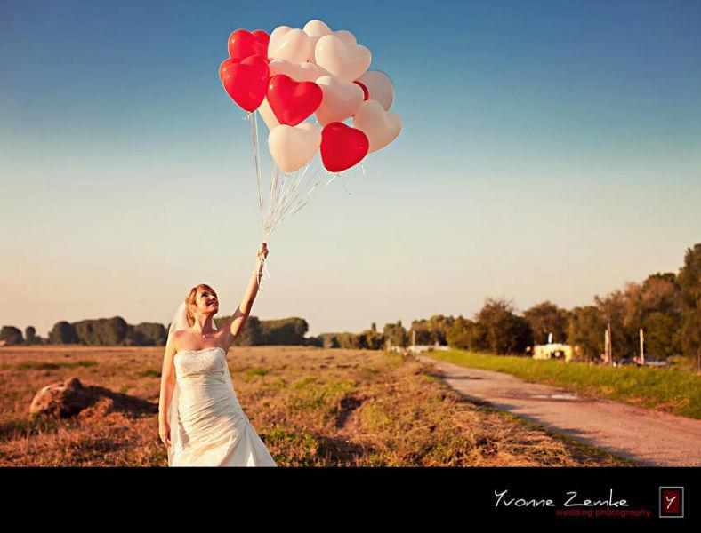 Beispiel: Portrait der Braur, Foto: Yvonne Zemke wedding photography.