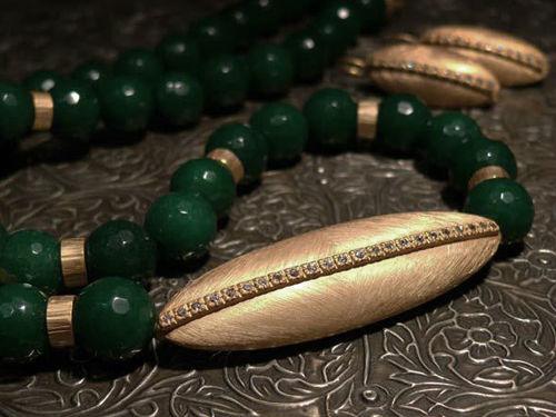 Colección Isis en plata de ley bañada en oro, ágata y circonita