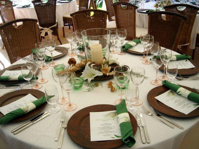 Beispiel: Tischdekoration, Foto: Hotel-Restaurant Zum Fröhlichen Landmann.