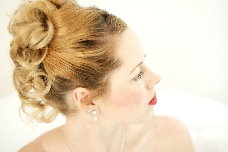 Beispiel: Frisuren und Make-up für Ihren Hochzeitstag, Foto: Beautyside.net.