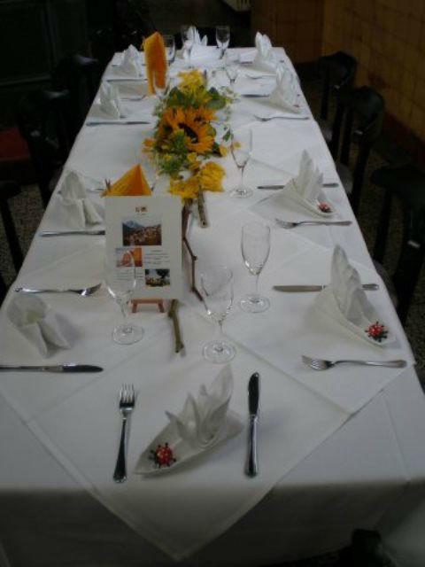 Beispiel: Restaurant - Bankett, Foto: Alte Pumpe.