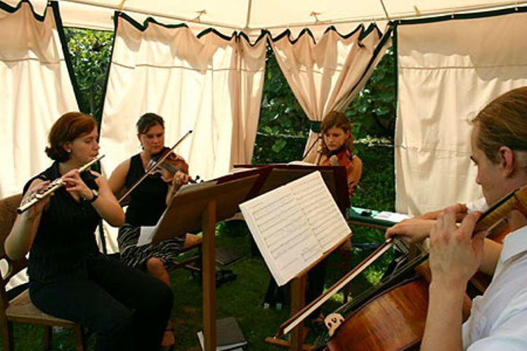 Beispiel: Musik im Garten, Foto: Plabutscher Schlössel.