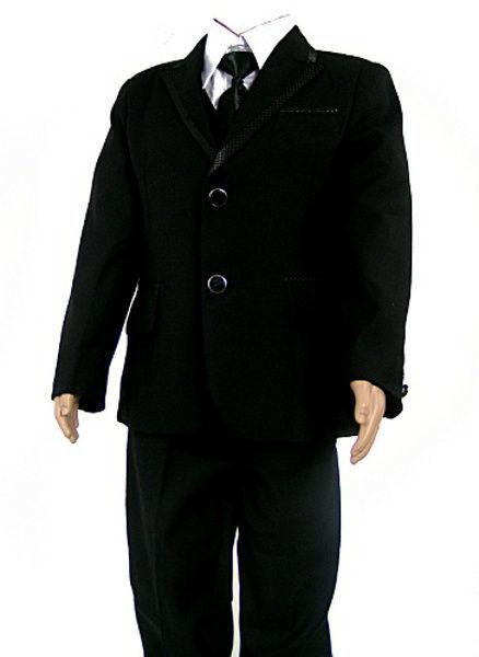 Costume noir 5 pièces du 2 ans au 14 ans