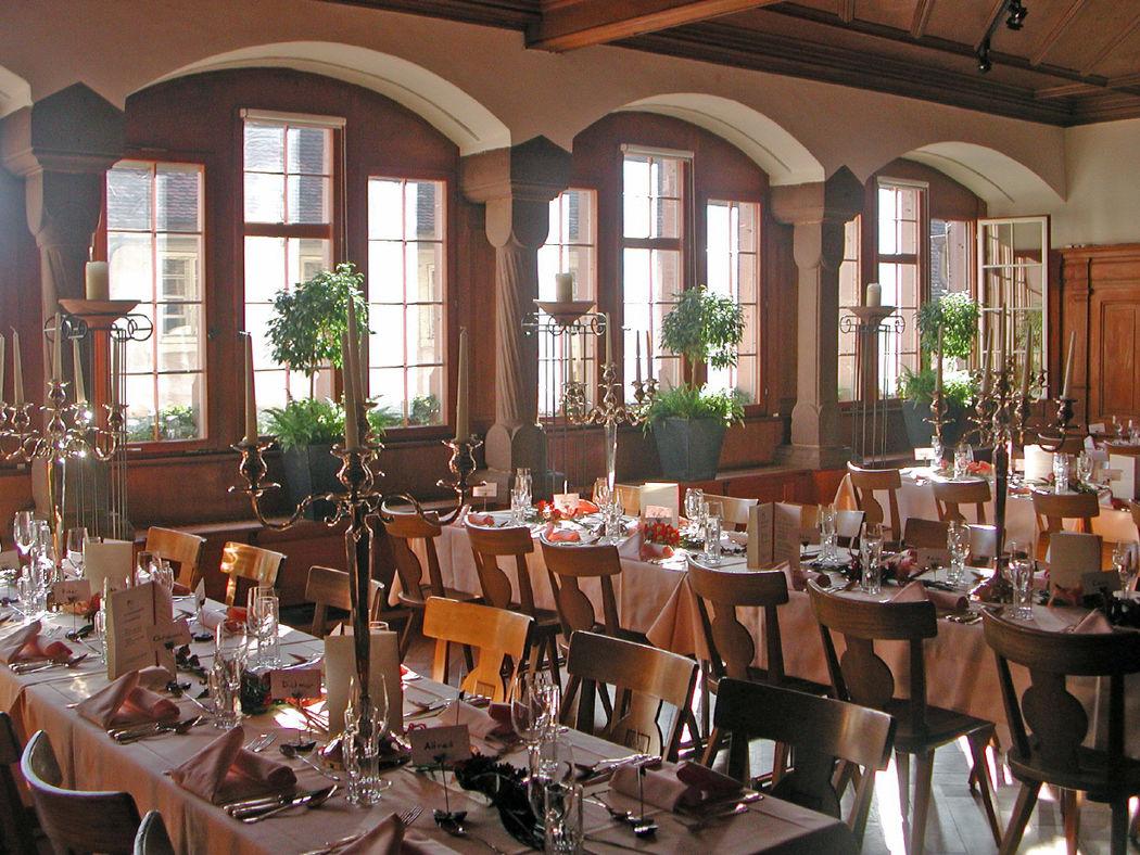 Beispiel: Bankettsaal, Foto: Restaurant Gemeindehaus.